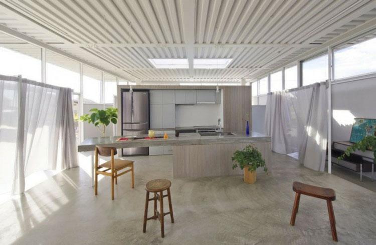 Piano di lavoro in cemento per cucina n.07