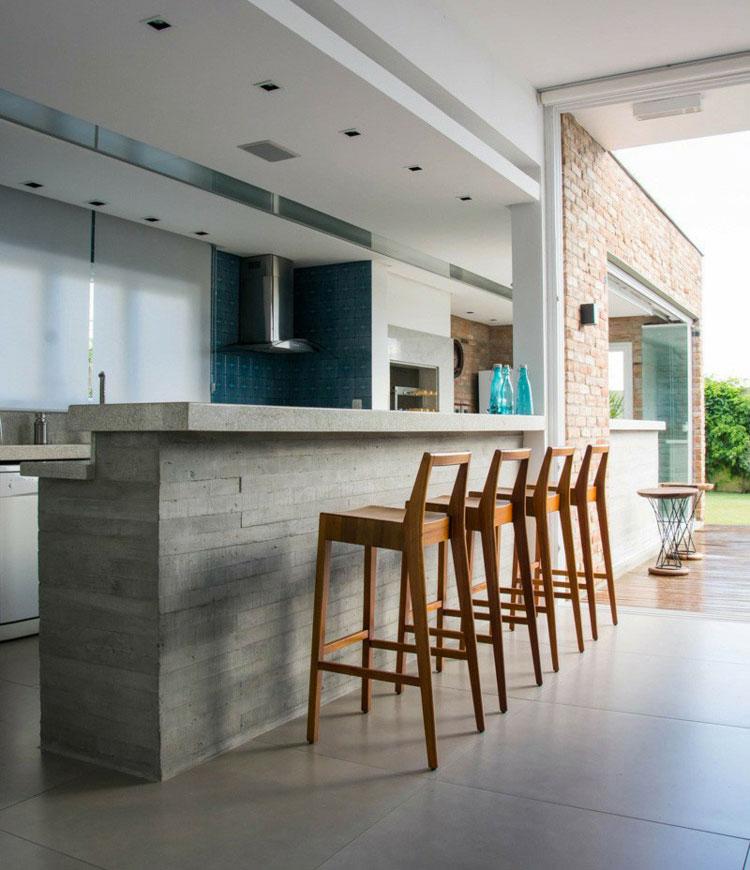 Top per Cucine in Cemento: 20 Piani di Lavoro dal Design Unico ...