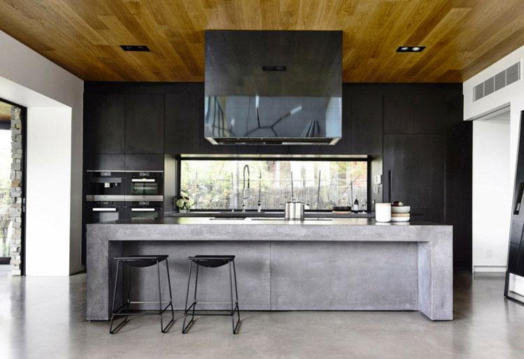 Piano di lavoro in cemento per cucina n.14