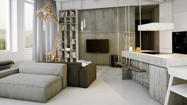Piano di lavoro in cemento per cucina n.16