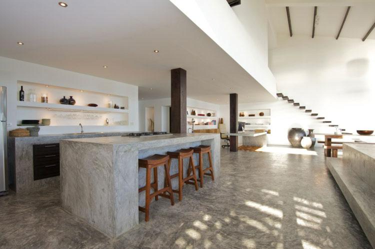 Piano di lavoro in cemento per cucina n.17