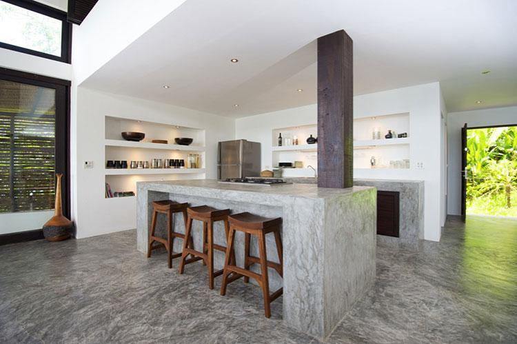 Piano di lavoro in cemento per cucina n.19