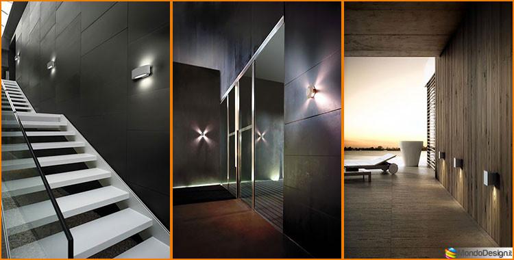 Modelli di applique da esterno a led dal design moderno