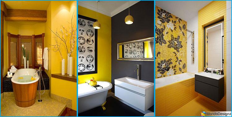 Come arredare un bagno giallo ecco 15 idee originali - Idee per rivestire un bagno ...