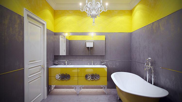 Idea per arredare un bagno giallo n.03