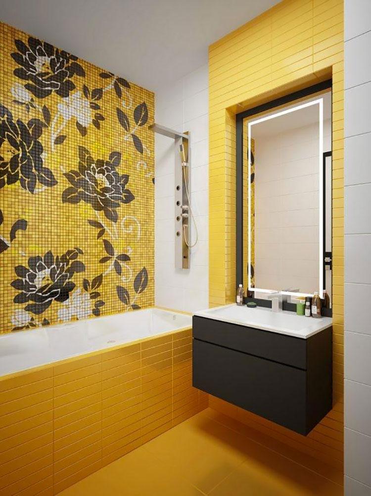 Idea per arredare un bagno giallo n.04