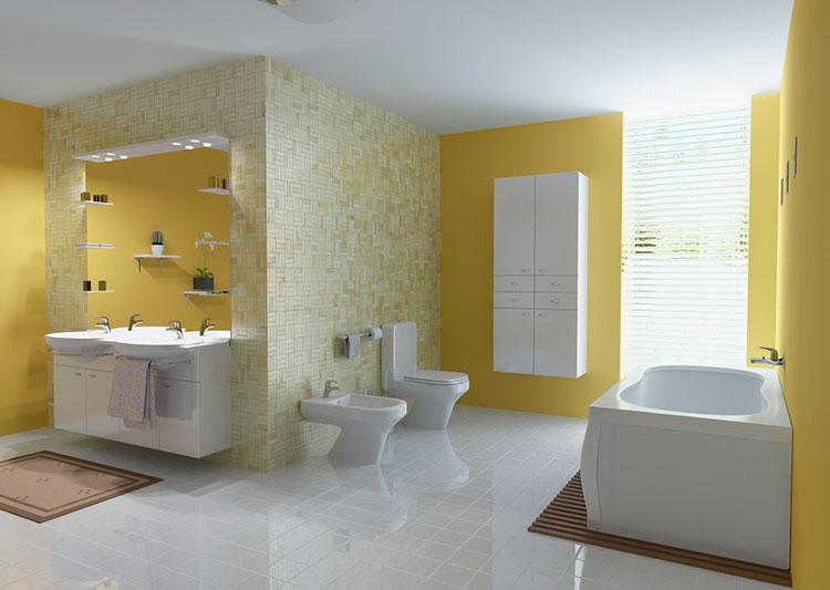 Idea per arredare un bagno giallo n.06