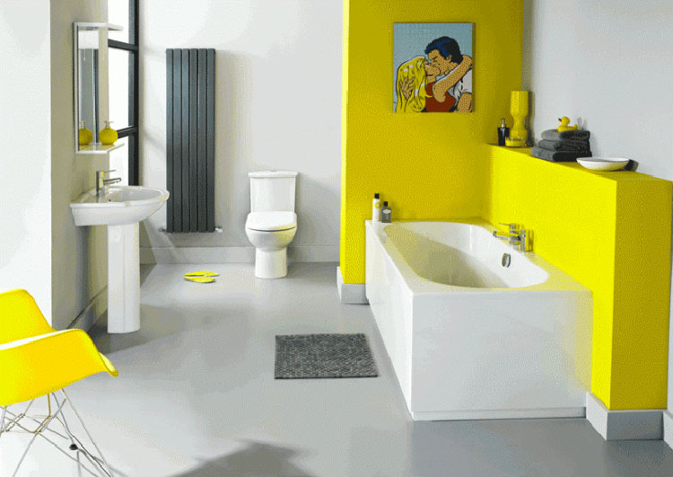 Idea per arredare un bagno giallo n.08