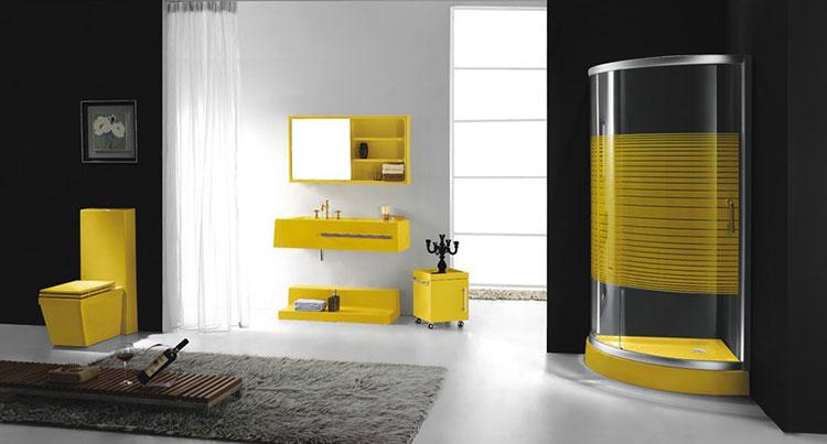 Idea per arredare un bagno giallo n.10