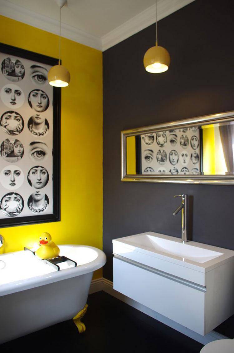Idea per arredare un bagno giallo n.11