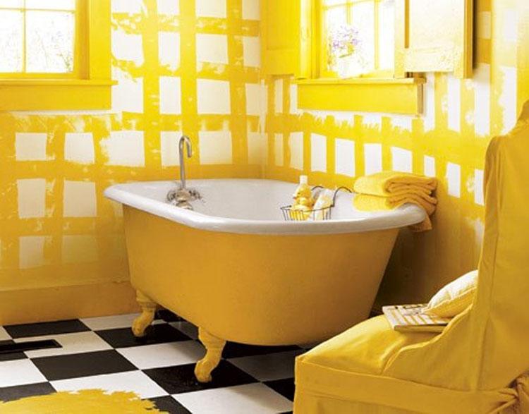 Idea per arredare un bagno giallo n.13