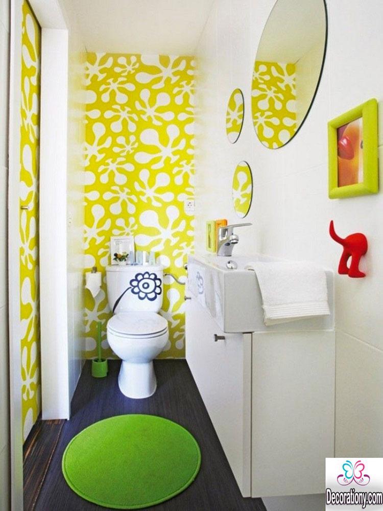 Idea per arredare un bagno giallo n.15