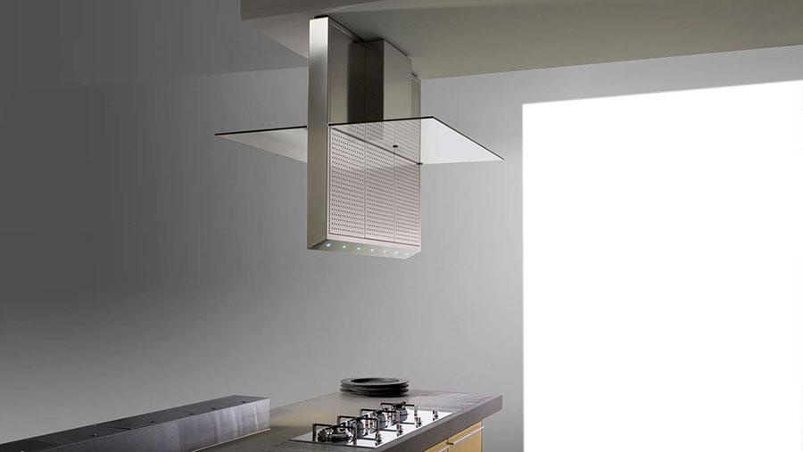 Modello di cappa per cucina a soffitto n.01