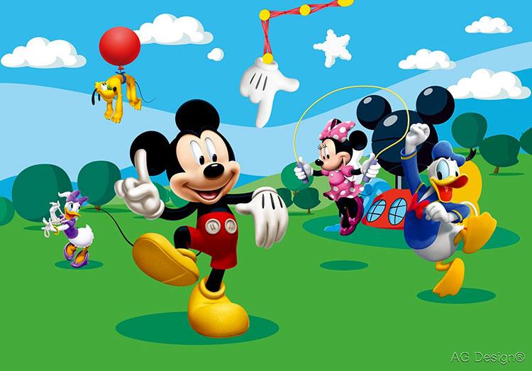 Carta da parati Disney con Topolino e i suoi amici n.01