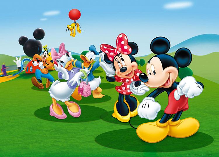 Carta da parati Disney con Topolino e i suoi amici n.03