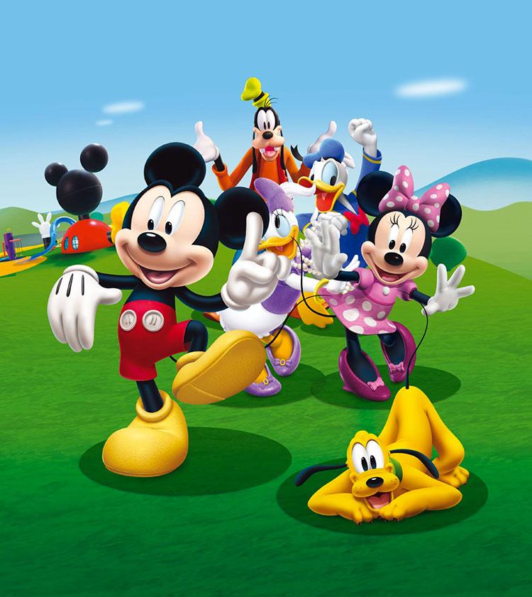 Carta da parati Disney con Topolino e i suoi amici n.04