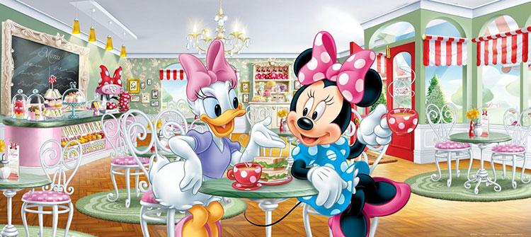 Carta da parati Disney con Minnie e Paperina n.01
