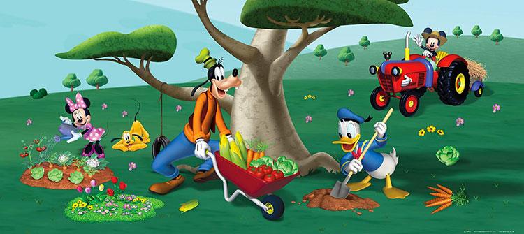 Carta da parati Disney con Topolino e i suoi amici n.09