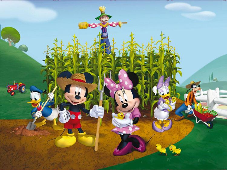 Carta da parati Disney con Topolino e i suoi amici n.10