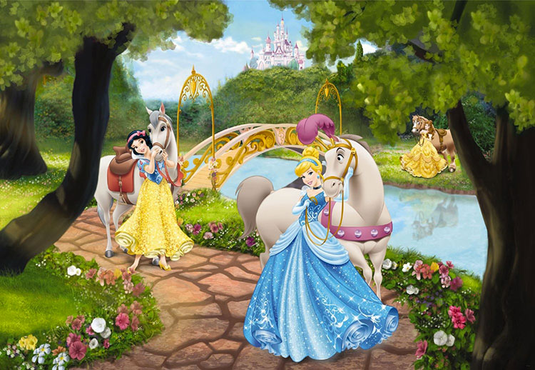 Carta da parati delle principesse Disney n.06