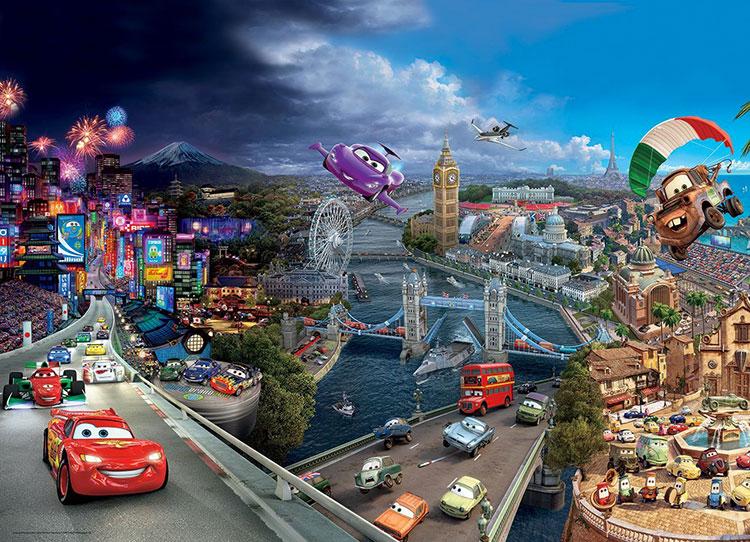 Carta da parati Disney di Cars n.02