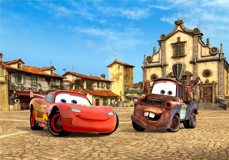 Carta da parati Disney di Cars n.03
