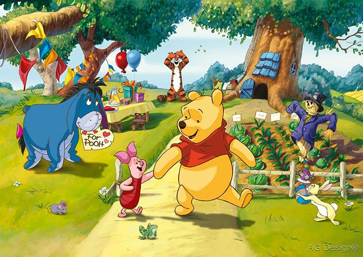 Carta da parati Disney di Winnie The Pooh n.01
