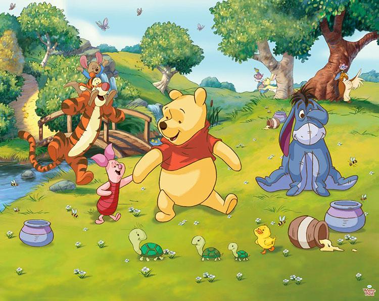 Carta da parati Disney di Winnie The Pooh n.03