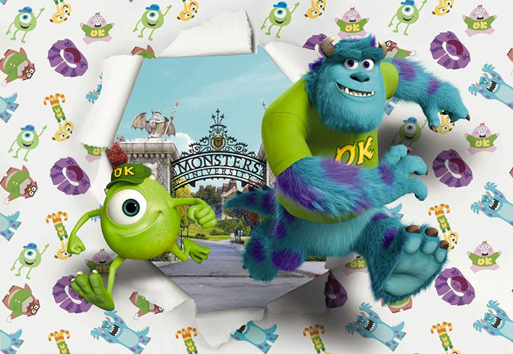 Carta da parati Disney di Monster n.01