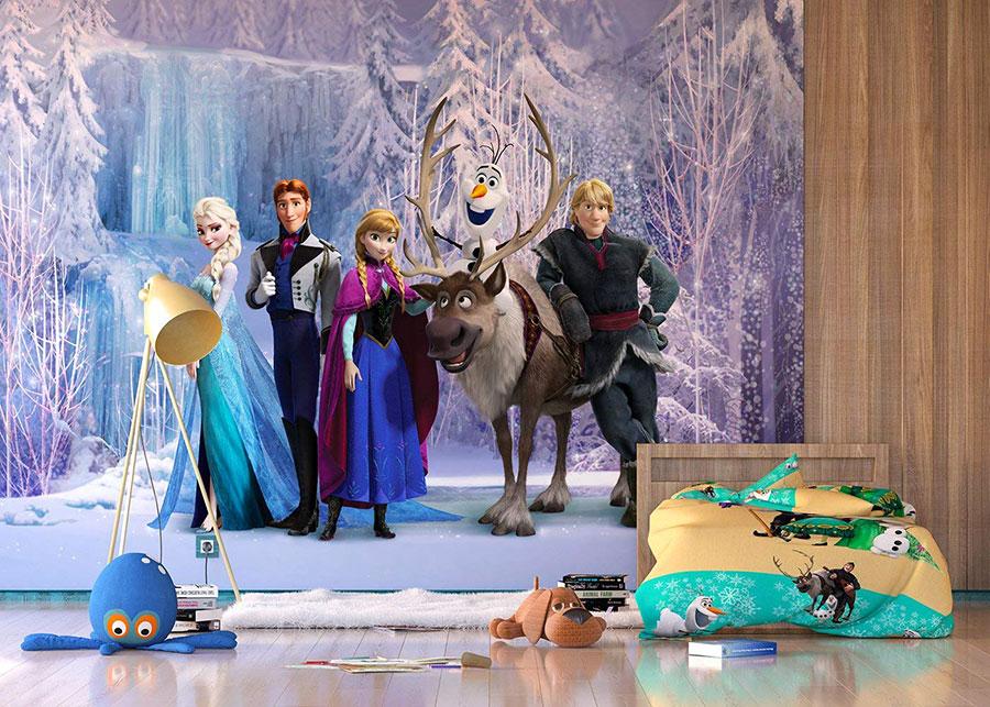 Modello di carta da parati di Frozen 1