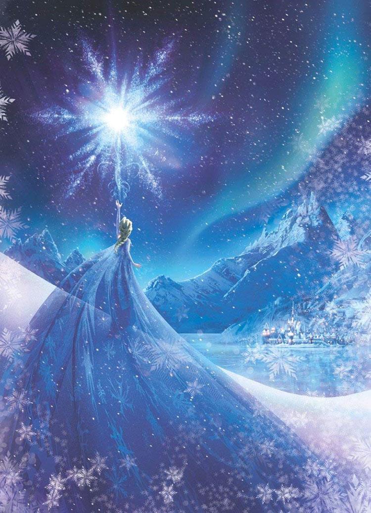 Modello di carta da parati di Frozen 3