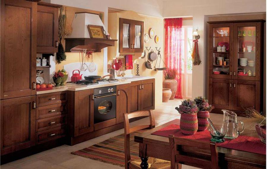 Modello di cucina provenzale in legno n.01