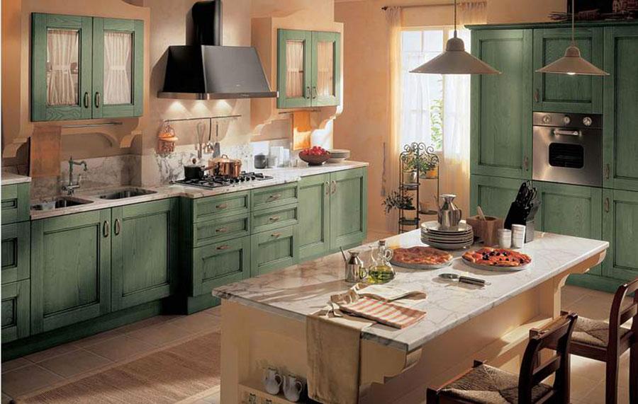 Modello di cucina provenzale in legno n.03