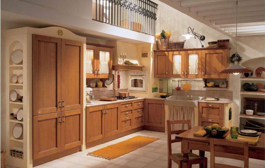 Modello di cucina provenzale in legno n.04