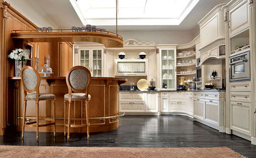Modello di cucina provenzale in legno n.05