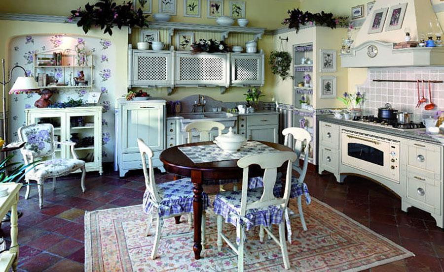 Modello di cucina provenzale in legno n.06