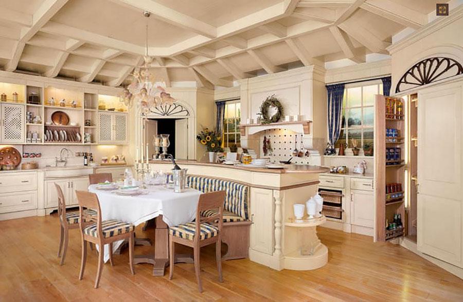 Modello di cucina provenzale in legno n.07