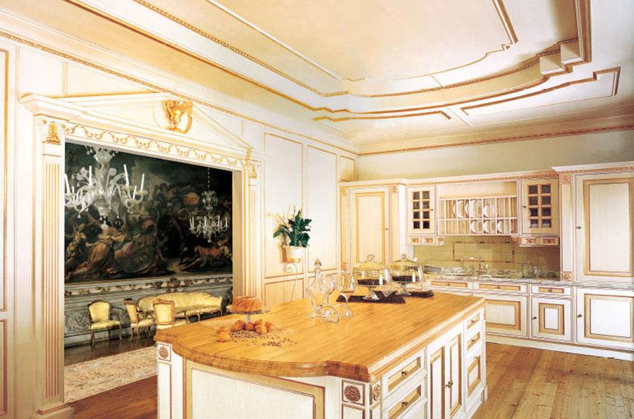 Modello di cucina provenzale in legno n.09