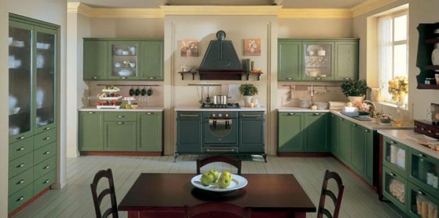 Modello di cucina provenzale in legno n.12
