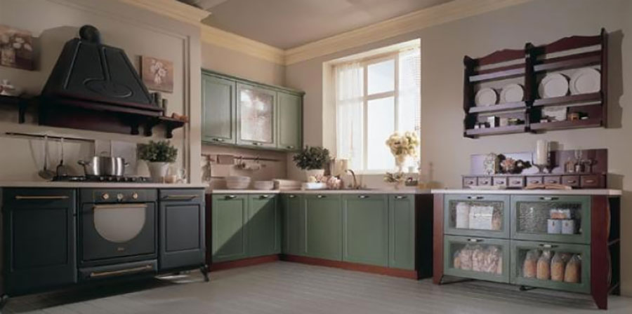 Modello di cucina provenzale in legno n.13