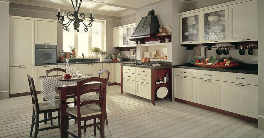 Modello di cucina provenzale in legno n.14
