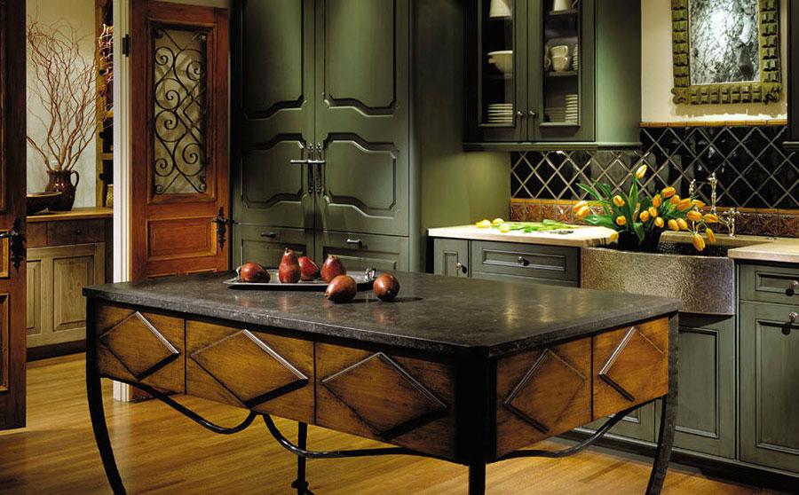 Modello di cucina provenzale in legno n.17