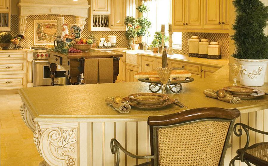 Modello di cucina provenzale in legno n.18