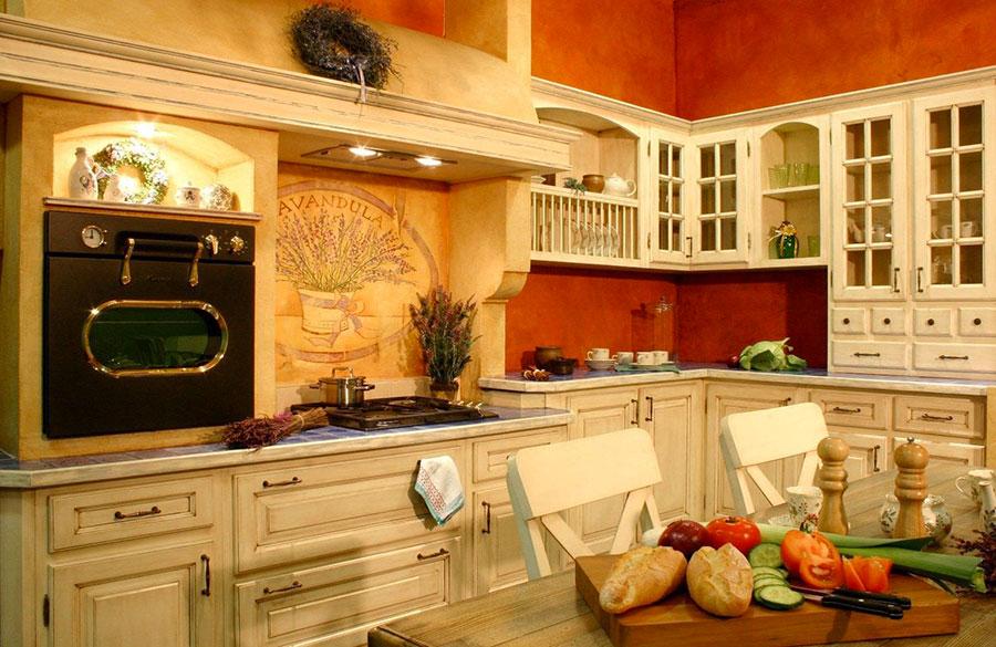 Modello di cucina provenzale in legno n.19