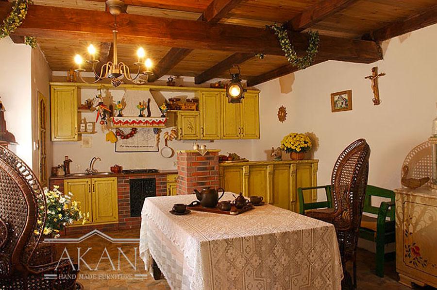 Modello di cucina provenzale in legno n.20