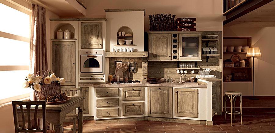 Modello di cucina provenzale in legno n.22