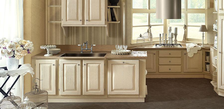 Modello di cucina provenzale in legno n.23