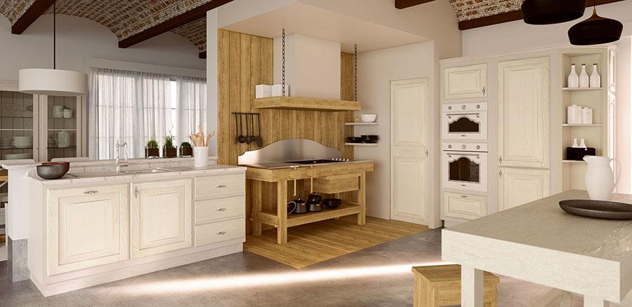 Modello di cucina provenzale in legno n.24