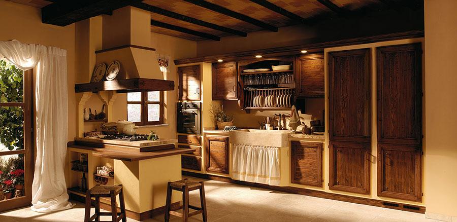 Modello di cucina provenzale in legno n.25