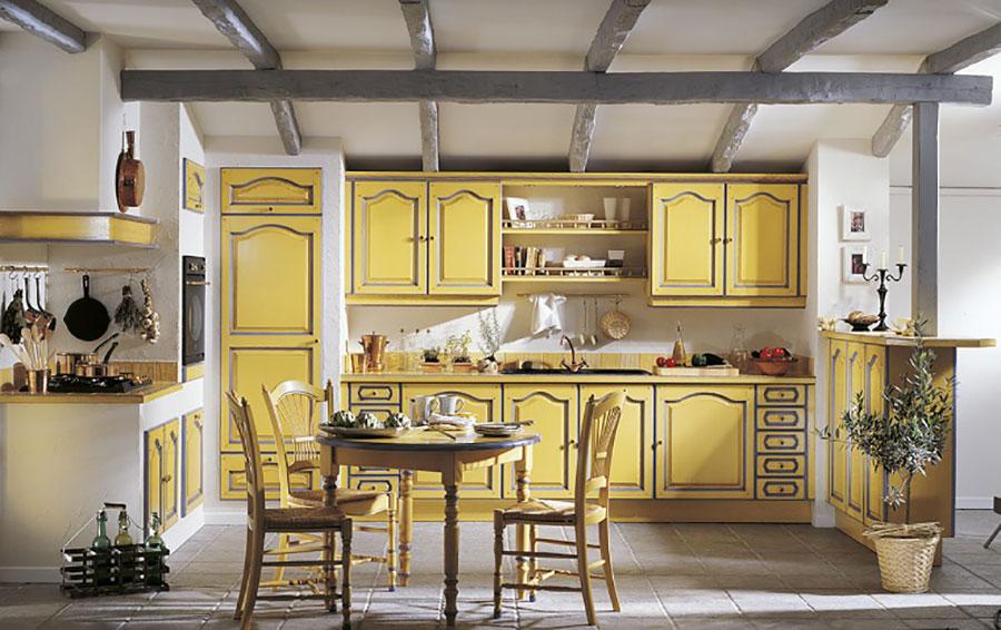 Modello di cucina provenzale in legno n.27